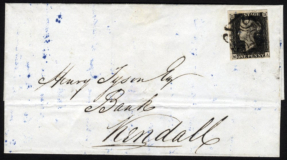 Penny black cover with Durham Maltese Cross
