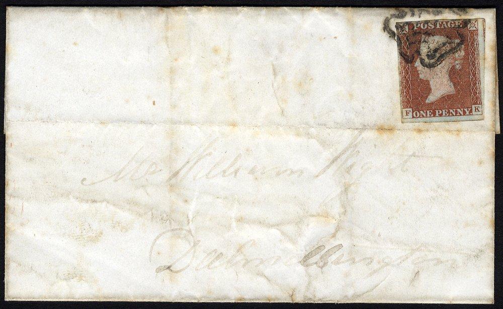 1841 penny cover Kilmarnock Maltese Cross
