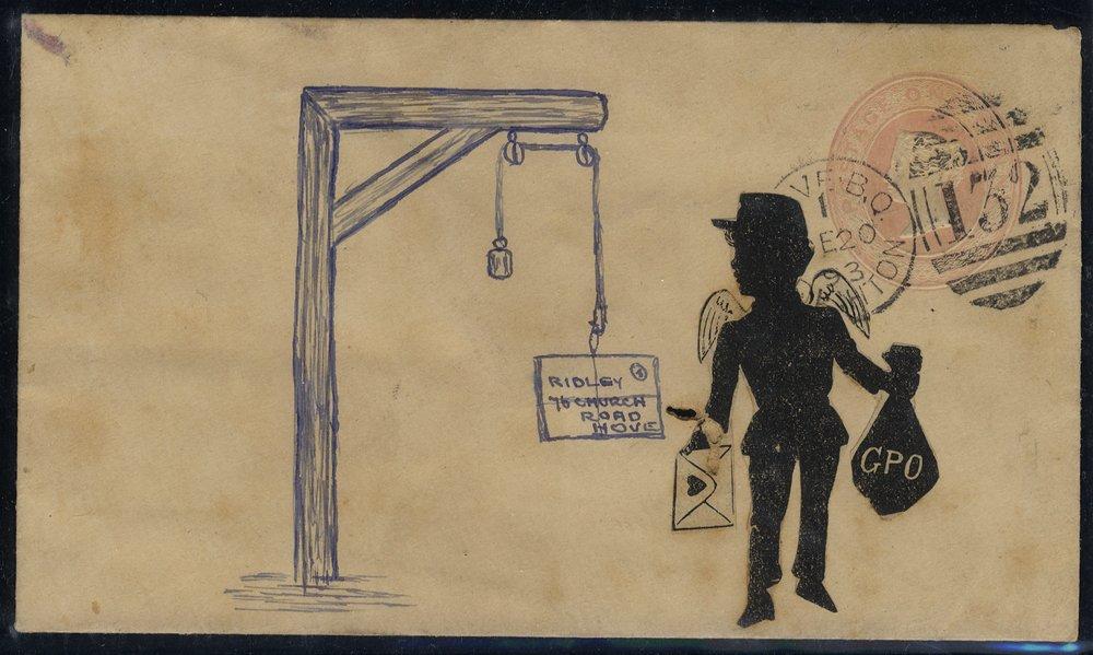 1893 stationery envelope illustrated used in Brighton