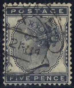 1881 5d indigo SG169