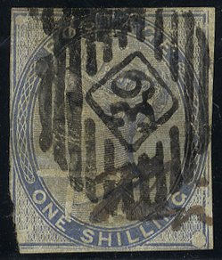 1885 1s Colour Trial in light blue RARE