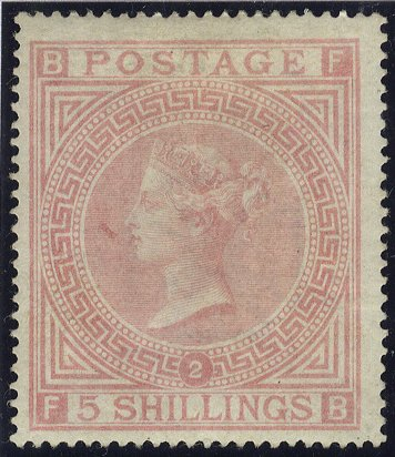 1867 5s pale rose Mint SG127