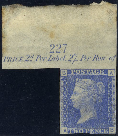 1878 2d Trial in ultramarine marginal