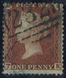 1855 1d SGC6(4) brown - rose - blue cancel