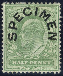 1904 ½d horseshoe SPECIMEN