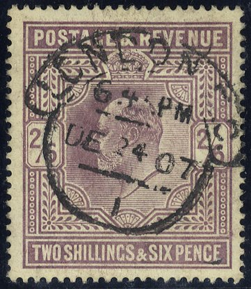 1905 2/6d pale dull purple London hooded circle SG261