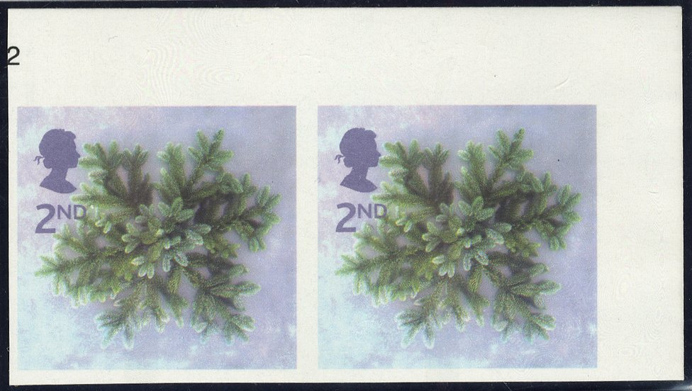 2002 Christmas 2nd Blue Spruce Star pair SG2321b
