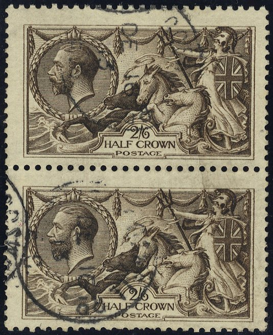 1913 Waterlow 2/6d deep sepia brown SG399
