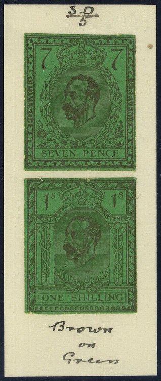 1910 Hentschel Zinc Block Essay 7d + 1s