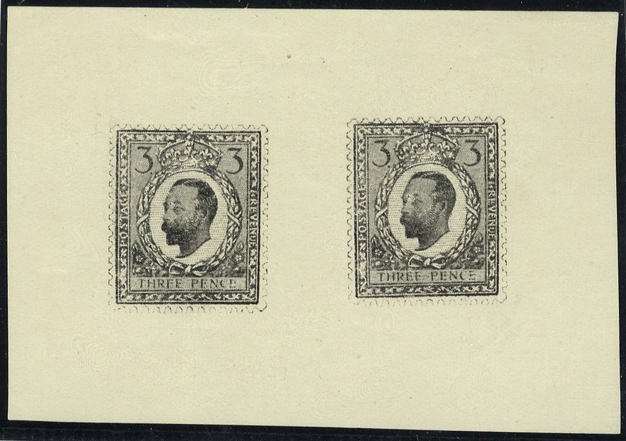 1911-12 Half Tone Essay 3d Small Format two examples