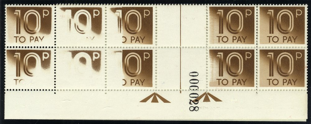 1982 Postage Due 10p Printing Error
