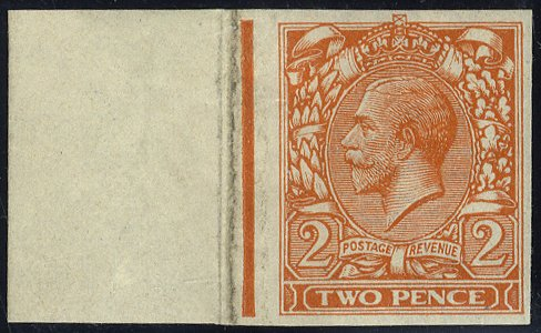 1912 2d Die II Imperforate Marginal RARE