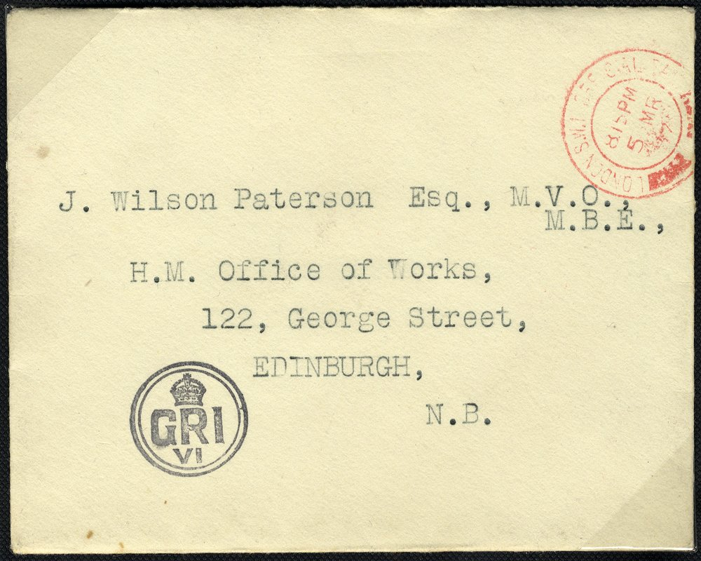 1937 envelope with King George VI Royal cachet