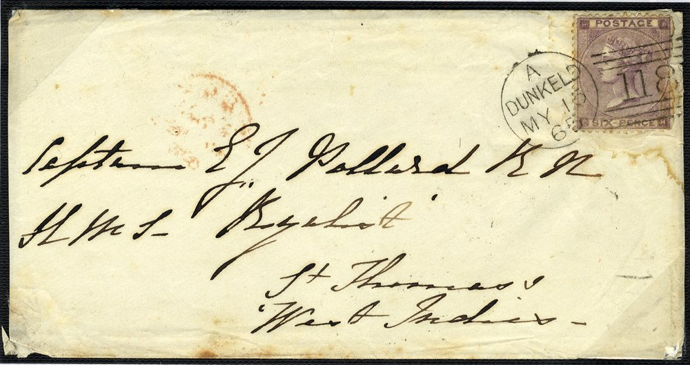 1864 envelope Dunkeld to St Thomas , West Indies