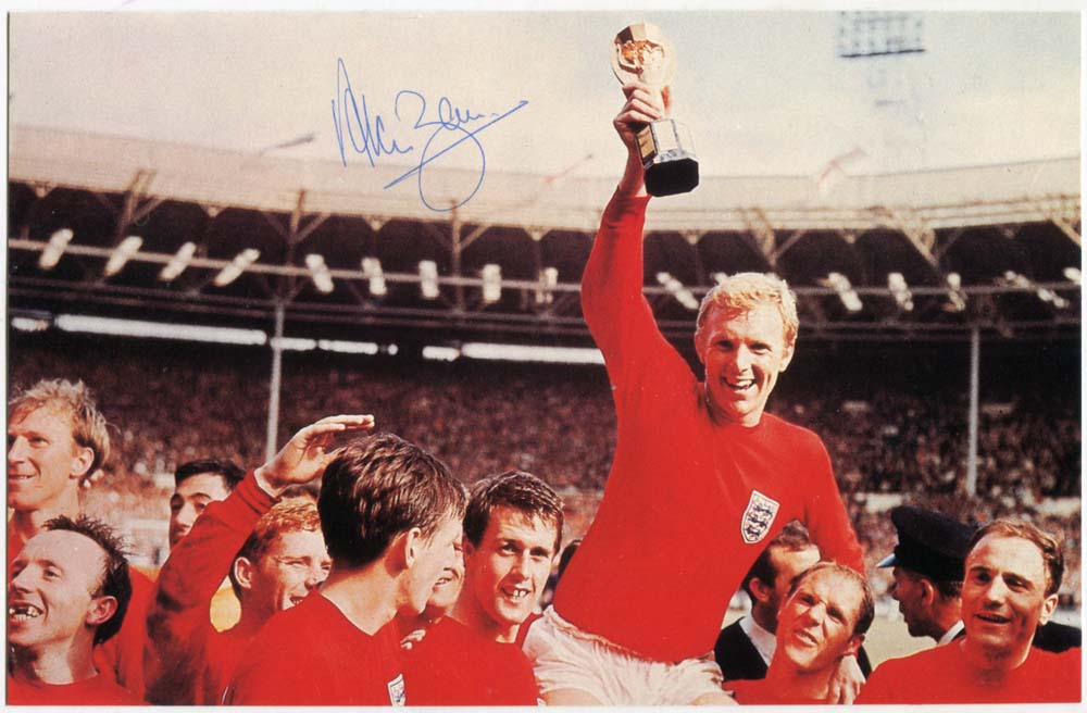 1966 World Cup Winners photograph - signed Alan Ball