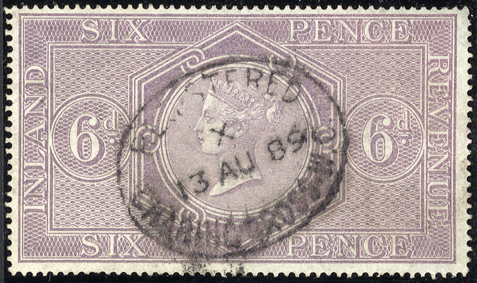1860-67 6d reddish lilac, superb used, Charing Cross oval registered date stamp