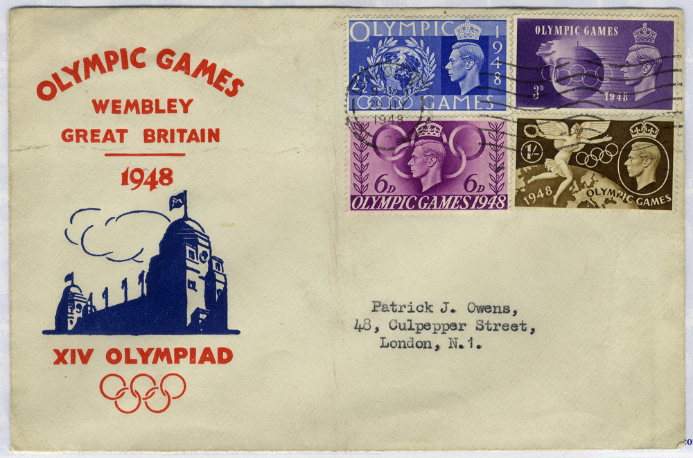 1948 Olympic Games, Wembley illustrated First Day Cover to London
