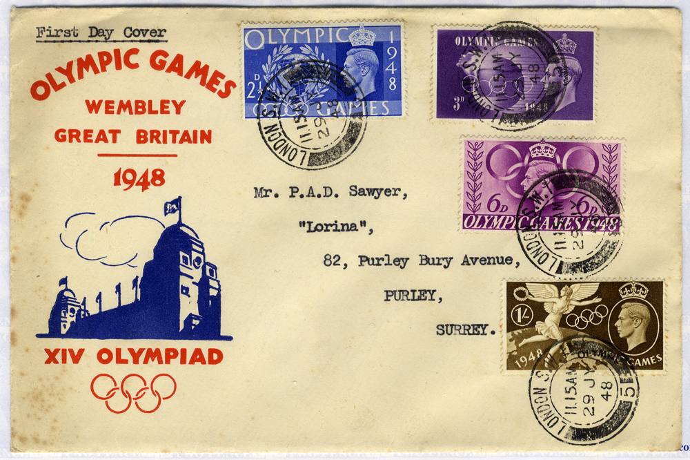 1948 Olympic Games, Wembley illustrated First Day Cover to Surrey (some toning)