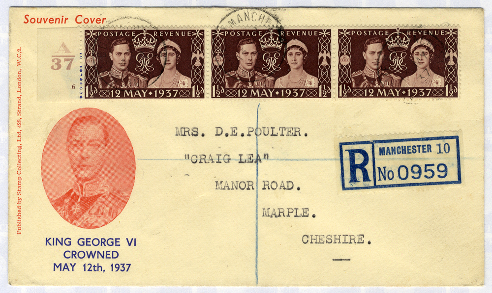 1937 Coronation illustrated First Day Cover to Cheshire