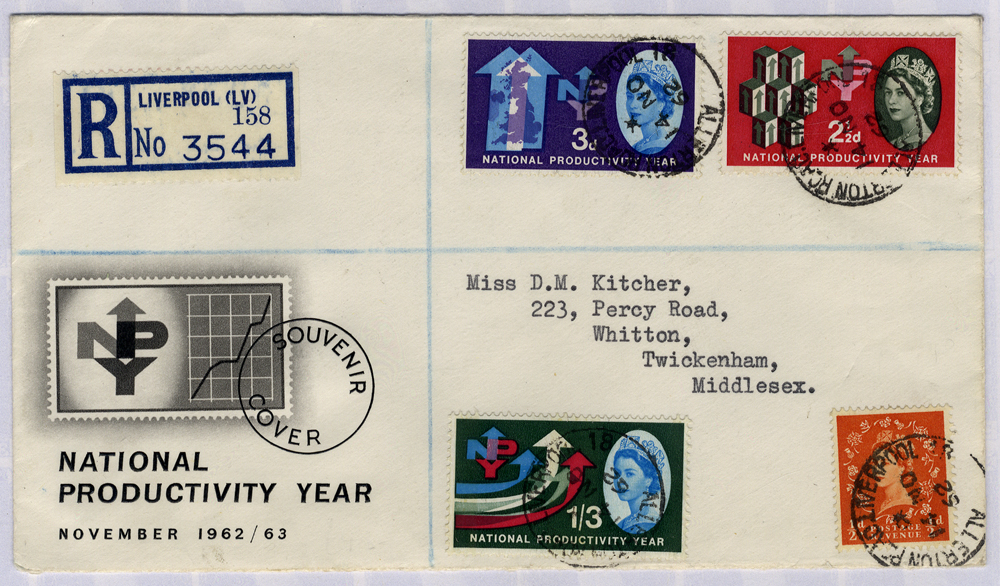 1962 NPY illustrated registered First Day Cover to Middlesex