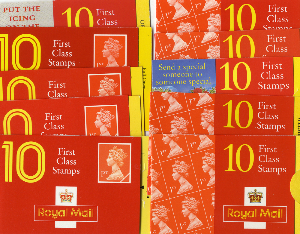 GB 1st Class stamps x 1000 in booklets (small definitive type). Perfect MINT condition. Face value £640