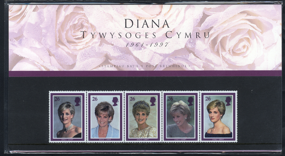 1998 Princess Diana (WELSH EDITION) Presentation Pack - SCARCE