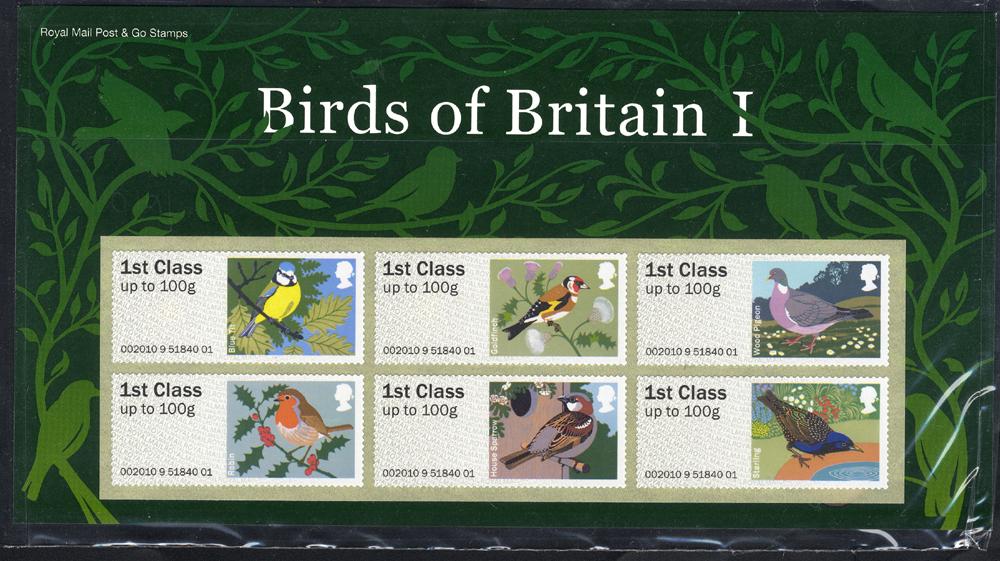 Post & Go Pack 2010 Birds of Britain I