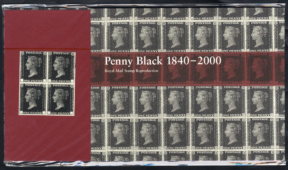 2000 Penny Black (Reproduction facsimile) Presentation Pack