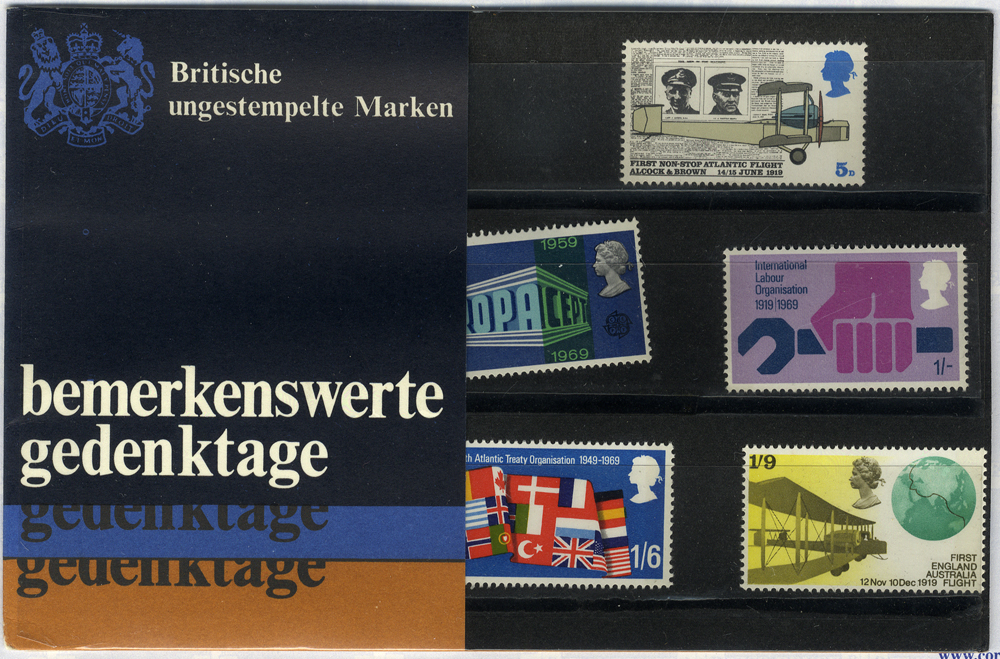 1969 Anniversaries Presentation Pack - scarce German Edition