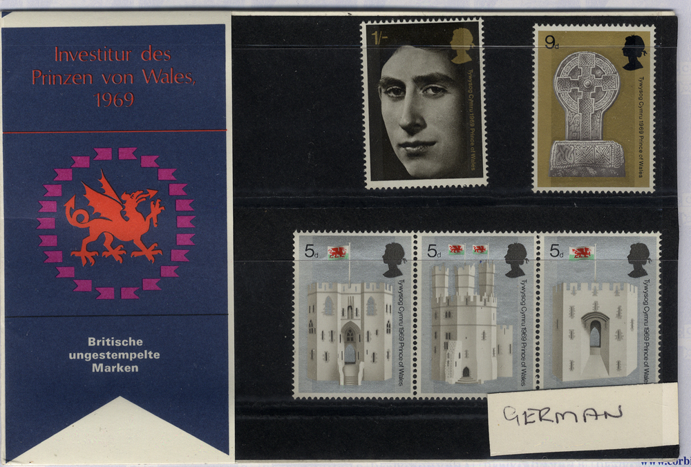 1969 Investiture Presentation Pack - scarce German Edition