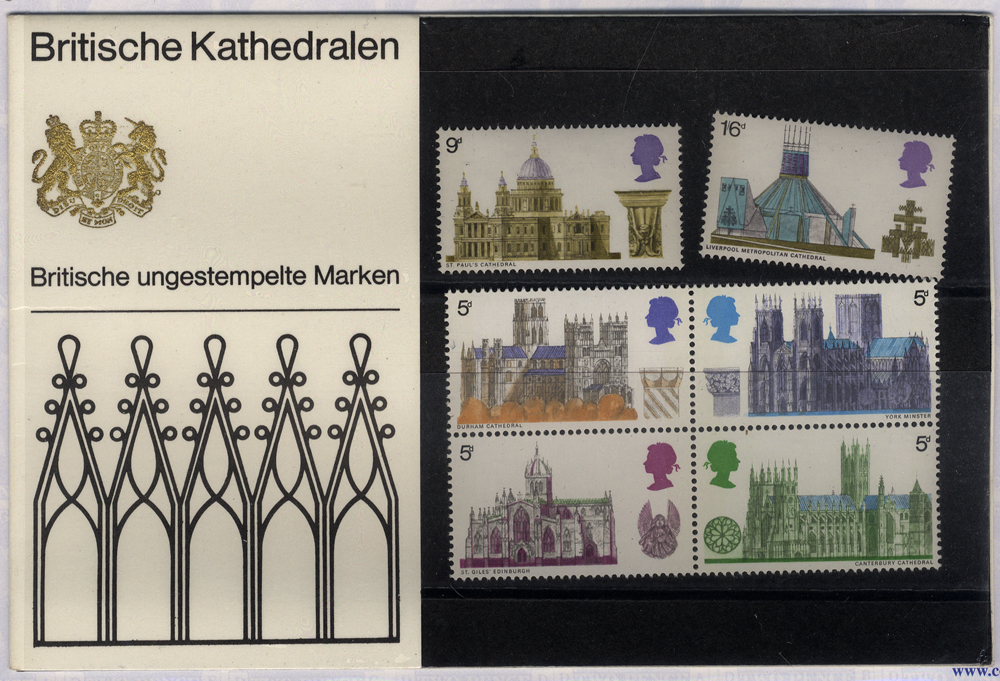 1969 Cathedrals Presentation Pack - scarce German Edition