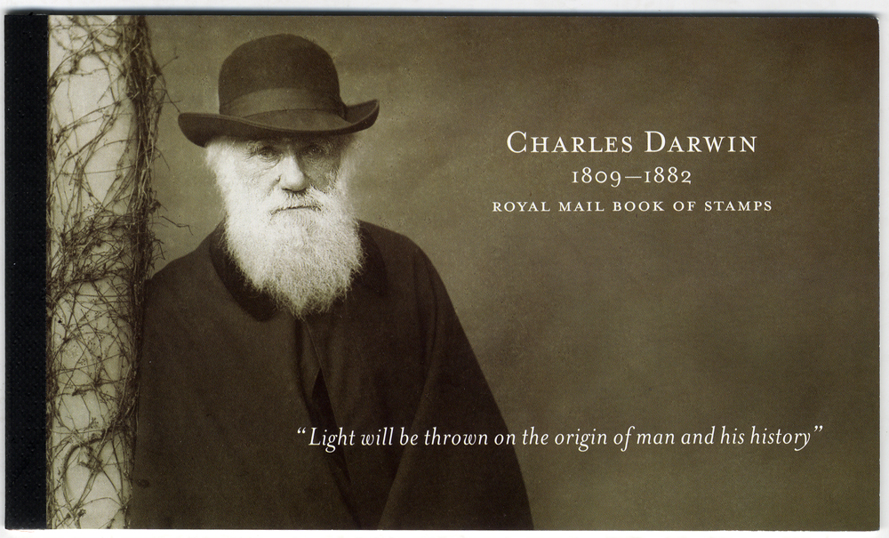 2009 Charles Darwin - prestige stamp booklet, complete (DX45), perfect condition.