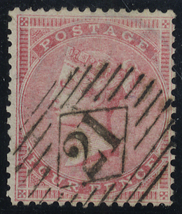 1857 4d rose carmine, Wmk Large Garter, very fine used, SG.66, Cat. £150
