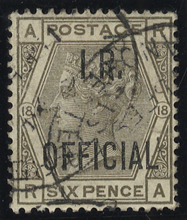 1882 I.R Official 6d grey, VFU example, SG.O4