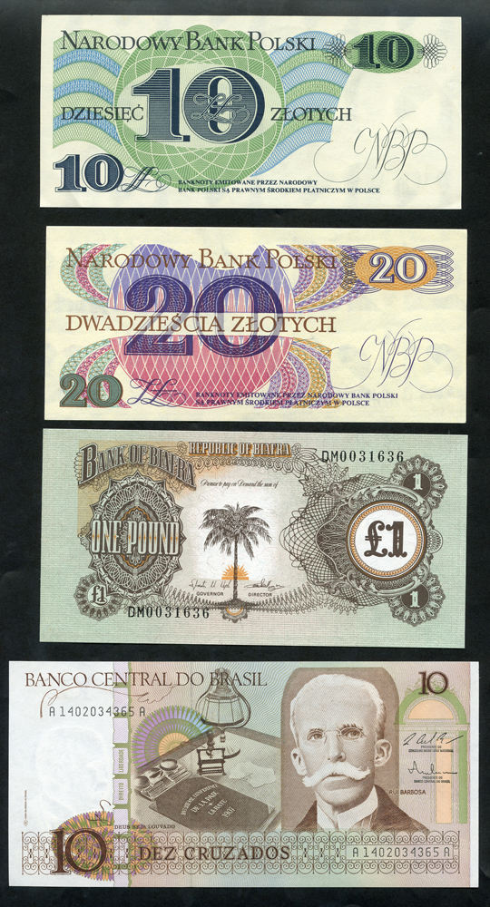 WORLD BANKNOTE ASSORTMENT, 25 different N/UNC