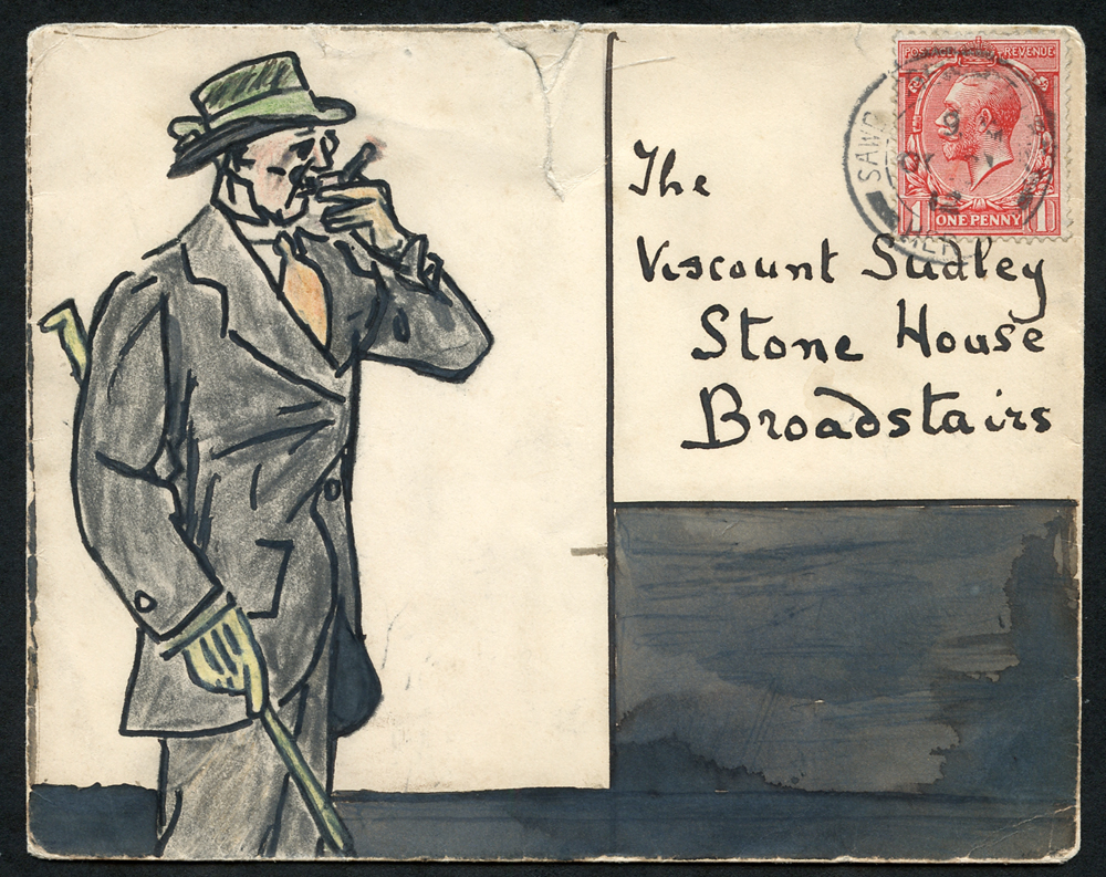 1912 envelope to Viscount Sudley at Broadstairs, franked 1d defin