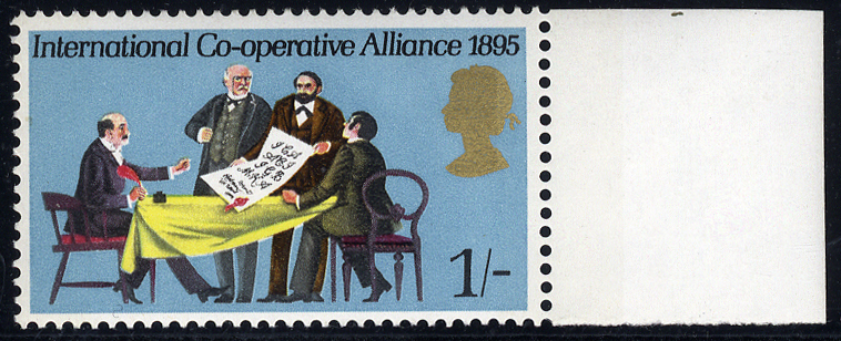 1970 Anniversaries 1s with MISSING GREEN & EMBOSSING, marginal UM