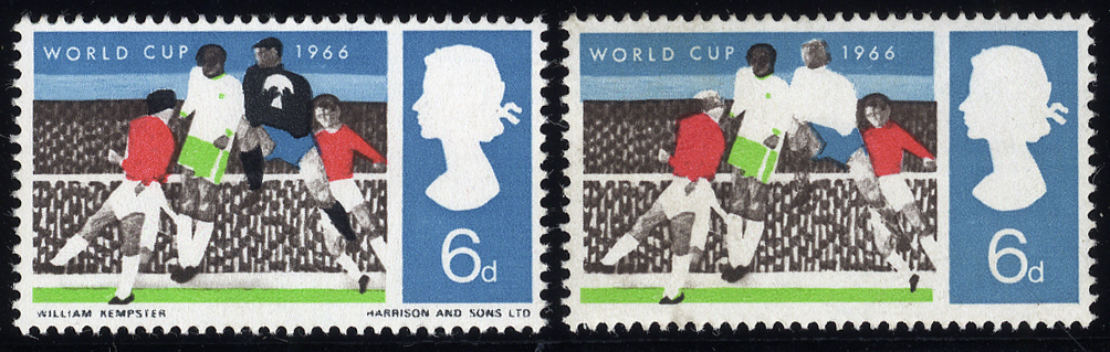 1966 World Cup 6d with BLACK OMITTED