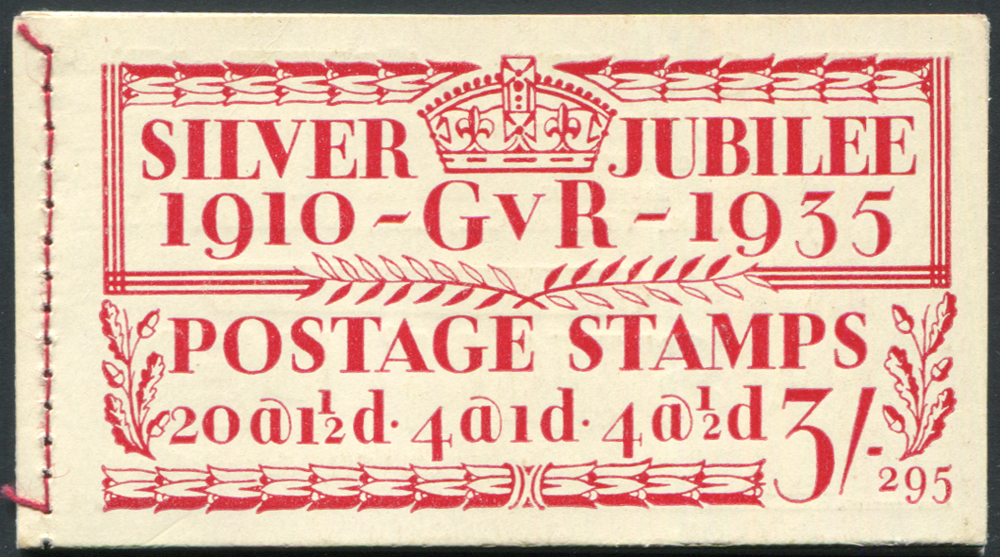 1935 Silver Jubilee 3s booklet, Edition 295 (SG.BB28)