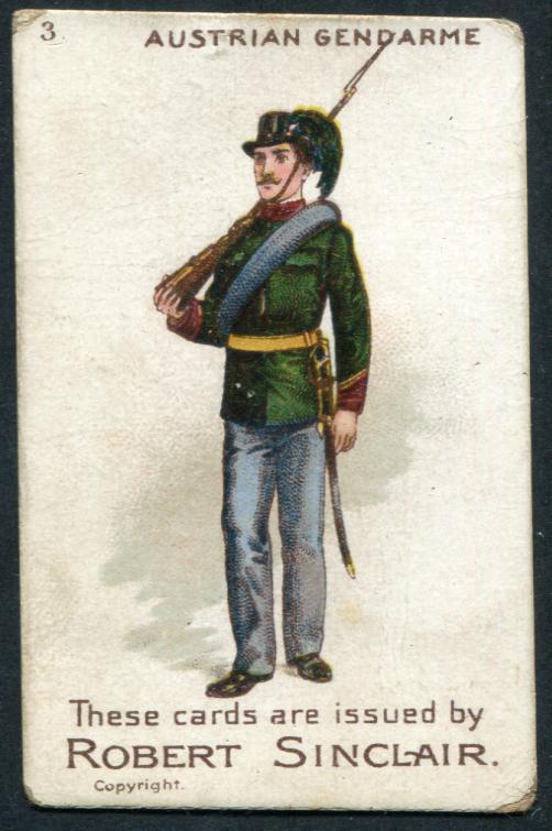 Robert Sinclair 1899 Policemen of the World No.3 Austrian Gendarme