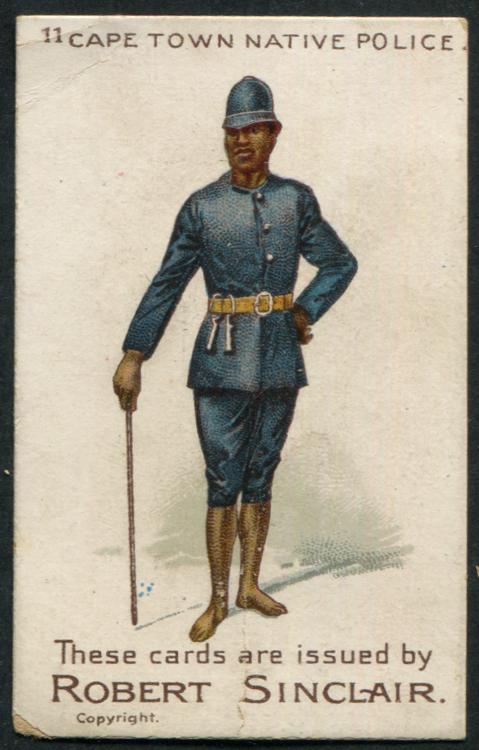 Robert Sinclair 1899 Policemen of the World No.11 Cape Town Native
