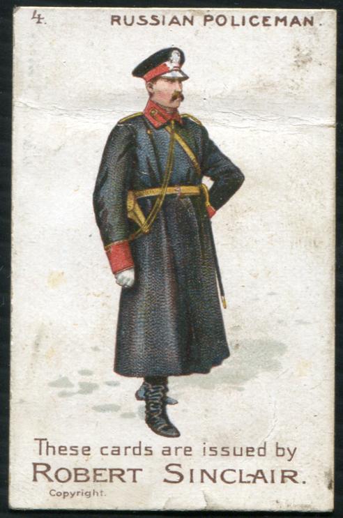 Robert Sinclair 1899 Policemen of the World No.4 Russian Policeman