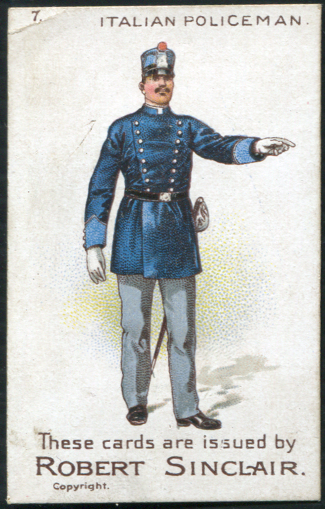 Robert Sinclair 1899 Policemen of the World No.7 Italian Policeman