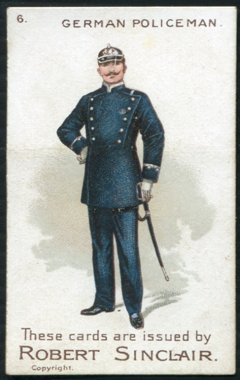Robert Sinclair 1899 Policemen of the World No.6 German Policeman