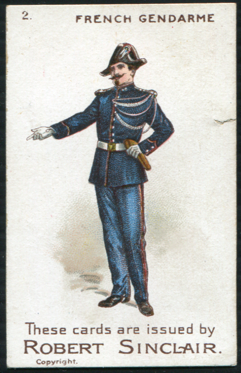 Robert Sinclair 1899 Policemen of the World No.2 French Gendarme