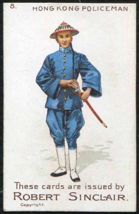Robert Sinclair 1899 Policemen of the World No.8 Hong Kong Policeman