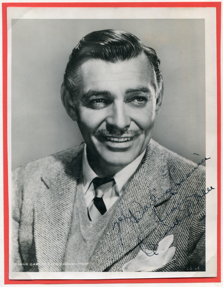 GABLE, CLARK 1901-60 (American actor) 'The King of Hollywood' black & white vintage photograph dedicated & signed