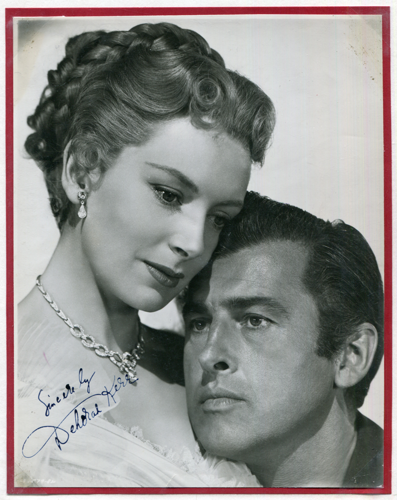 KERR, DEBORAH 1921-2007 (Scottish actress) black & white vintage photograph signed 'Sincerely Deborah Kerr'