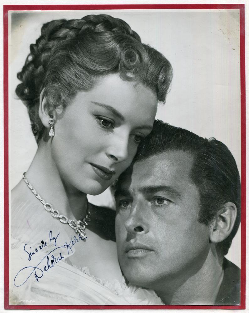 KERR, DEBORAH 1921-2007 (Scottish actress) black & white vintage photograph signed 'Sincerely Deborah Kerr'