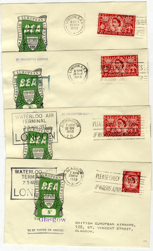 1953-56 B.E.A Airway Letter Service official covers x7